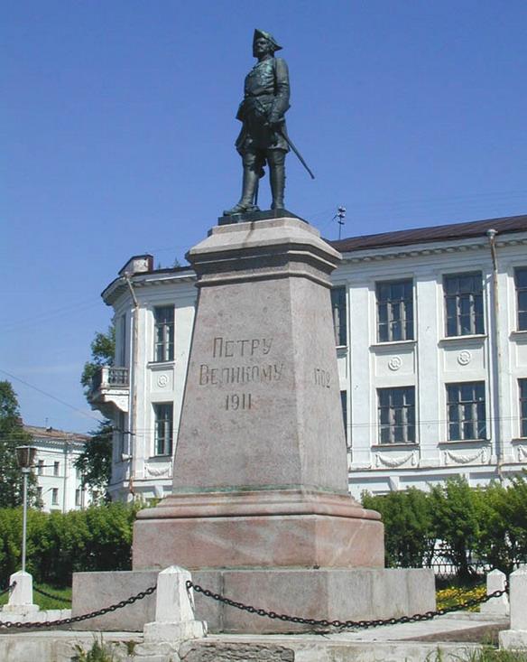 Памятник Петру I. Архангельск. Фото