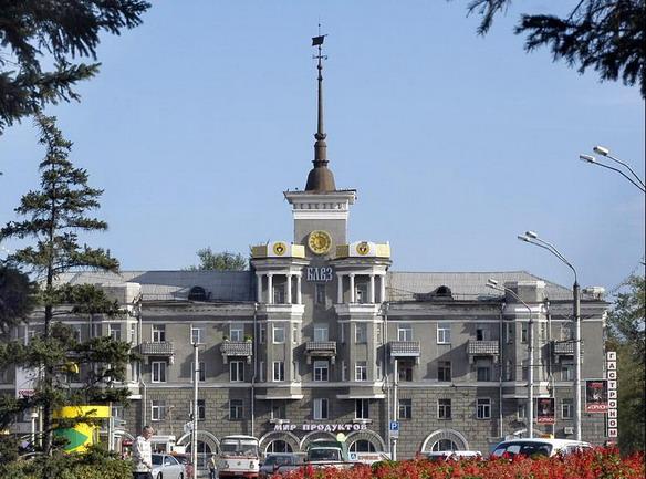 Дом под шпилем. Барнаул. Фото