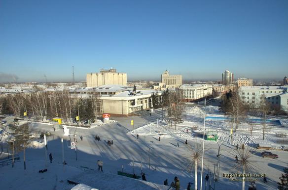 Площадь Сахарова. Барнаул. Фото
